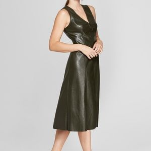 Dresses & Skirts - Womens Leather Inspired Dress L